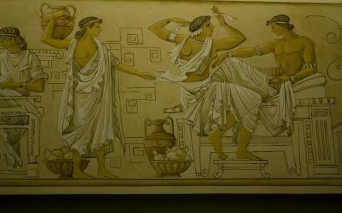 Фреска в греческом стиле