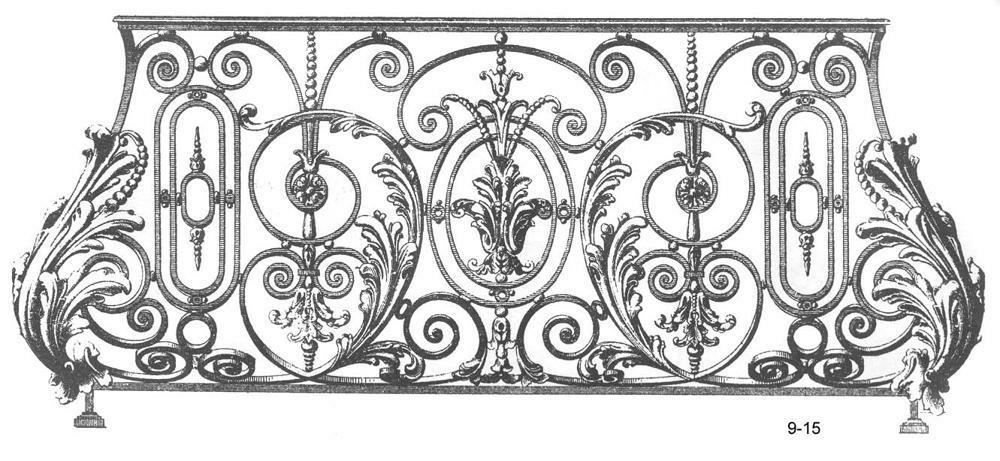 Балконные ограждения - техдиз.