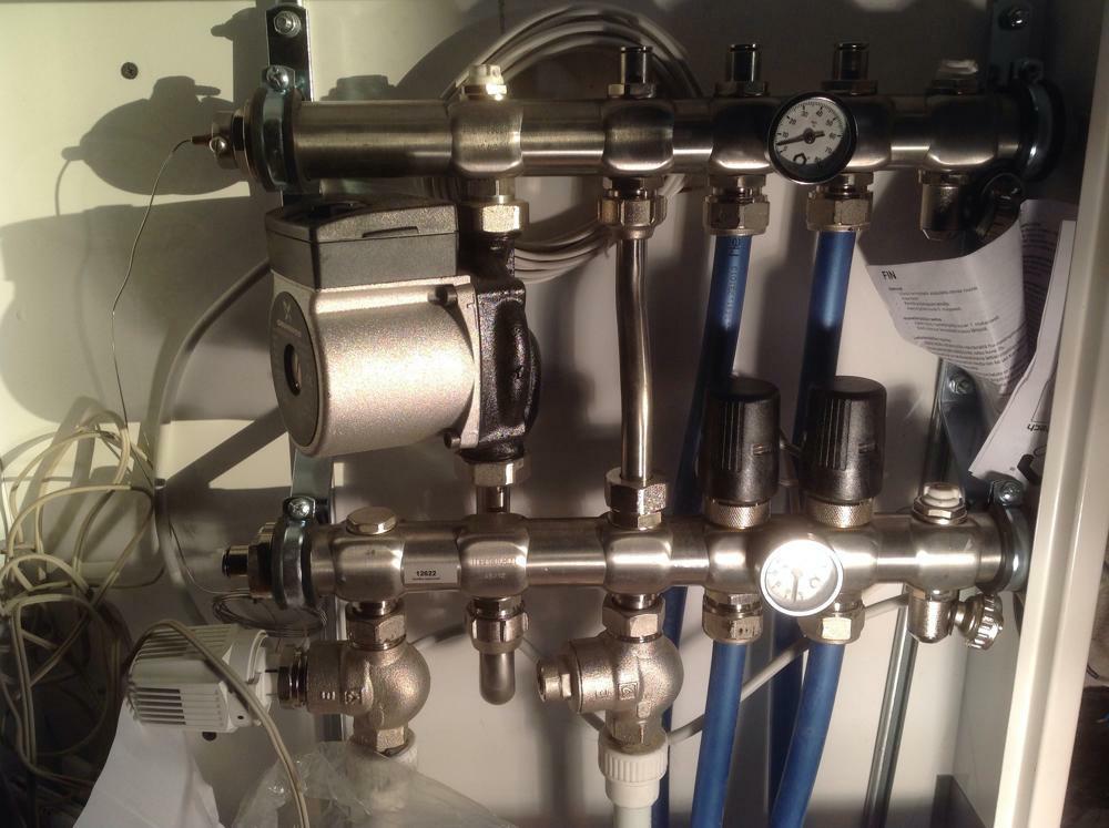 Распределительный шкаф системы отопления