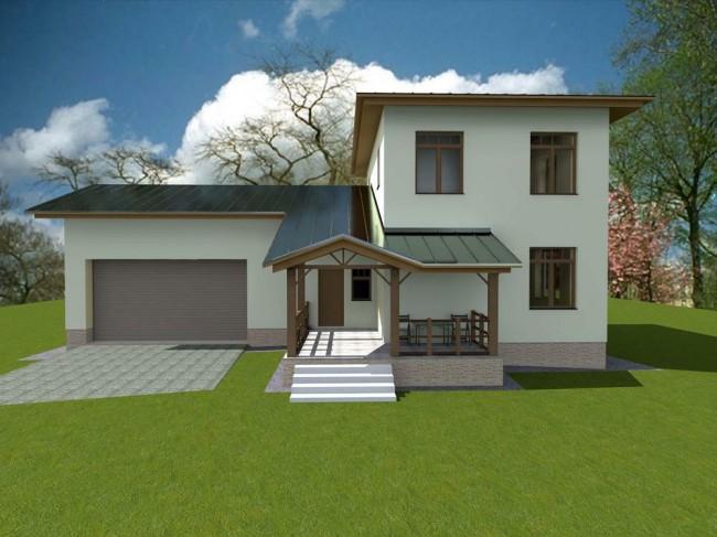 Дизайн проект загородного дома в Тучково