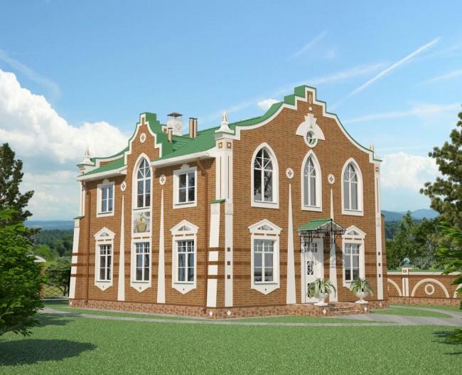 Проект дома в стиле «Мунцарт»