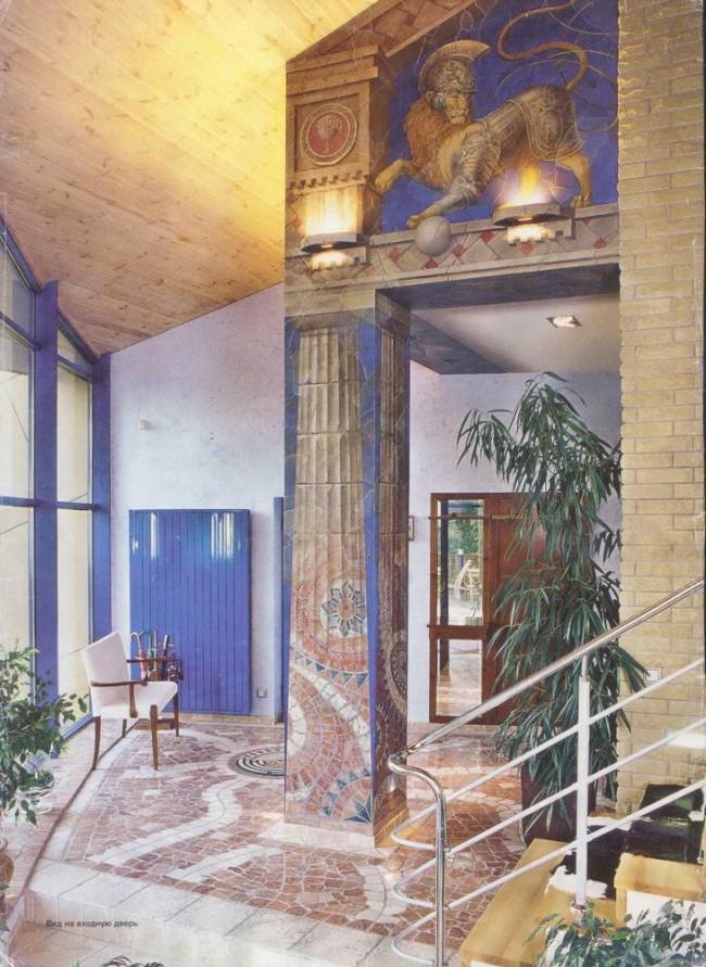 Декоративное оформление интерьера в загородном доме
