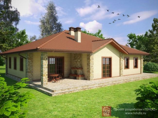 Проект загородного дома 150 кв.м в Манихино