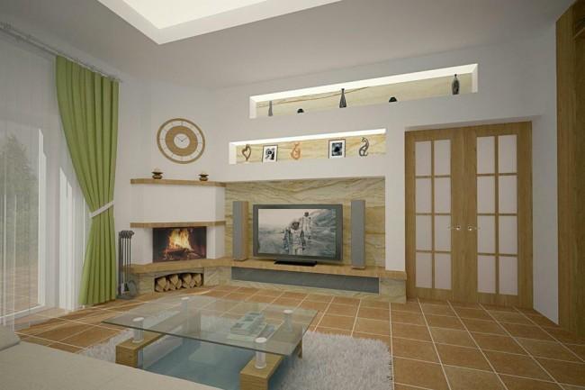 Дизайн интерьера загородного дома в Большаково