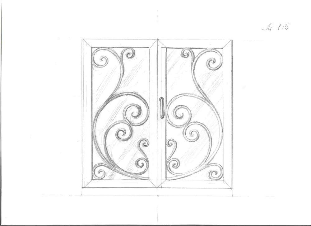 Кованные оконные решетки (25)
