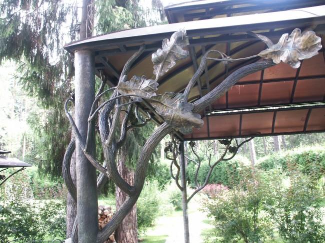 Художественная ковка имитация дерева